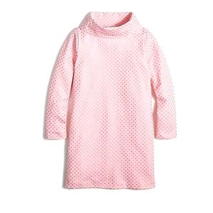 Crewcuts Turtleneck Knit Dress Pink Shimmery Gold